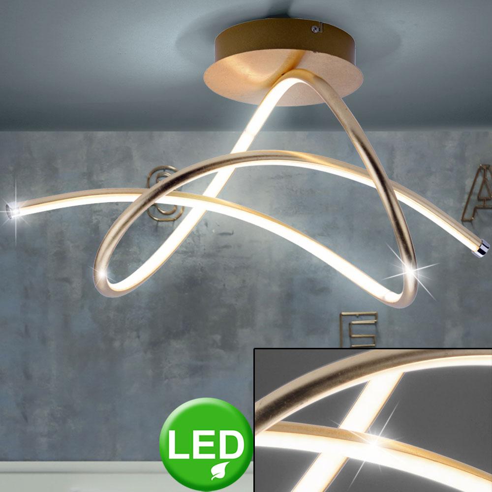 Led Luxus Decken Leuchte Wohn Raum Beleuchtung Strahler Lampe Gold