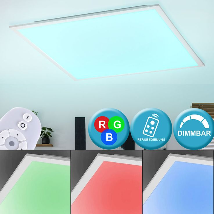RGB LED Ceiling Lamp Remote Control Living Room Lighting Panel Dimmable  Lights  Direct 14632-16 – Bild 2