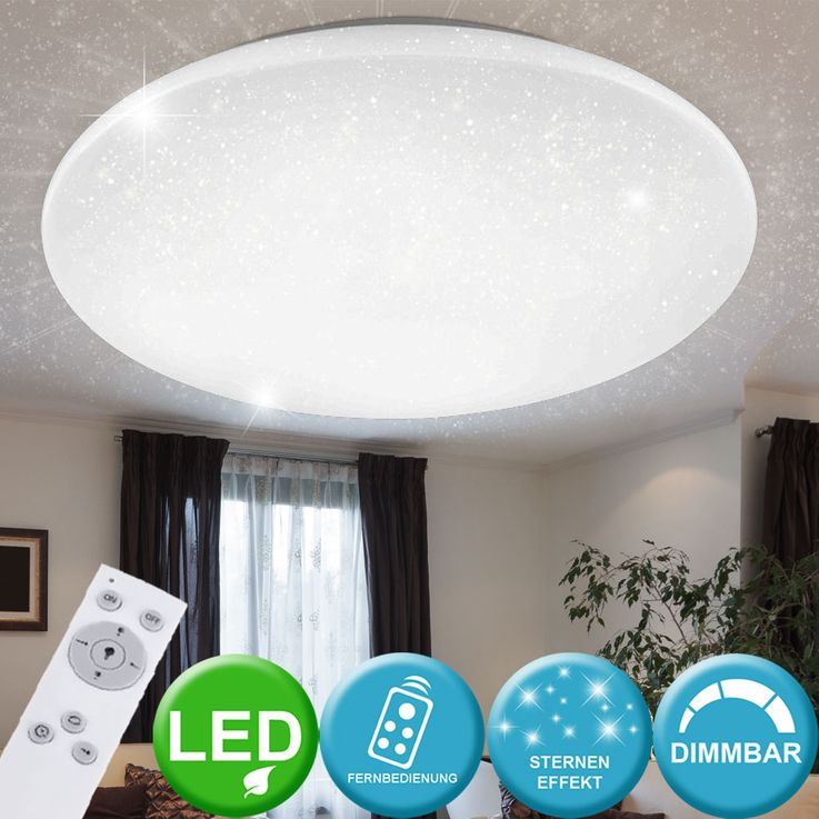 LED ceiling lamp stars sky effect CCT lamp dimmable REMOTE CONTROL  Lights  Direct 14375-00 – Bild 2