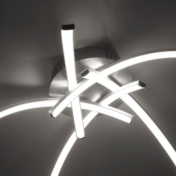 LED ceiling light living room lighting 5 spotlights bent lamp silver  Paul  Neuhaus 15340-55 – Bild 4