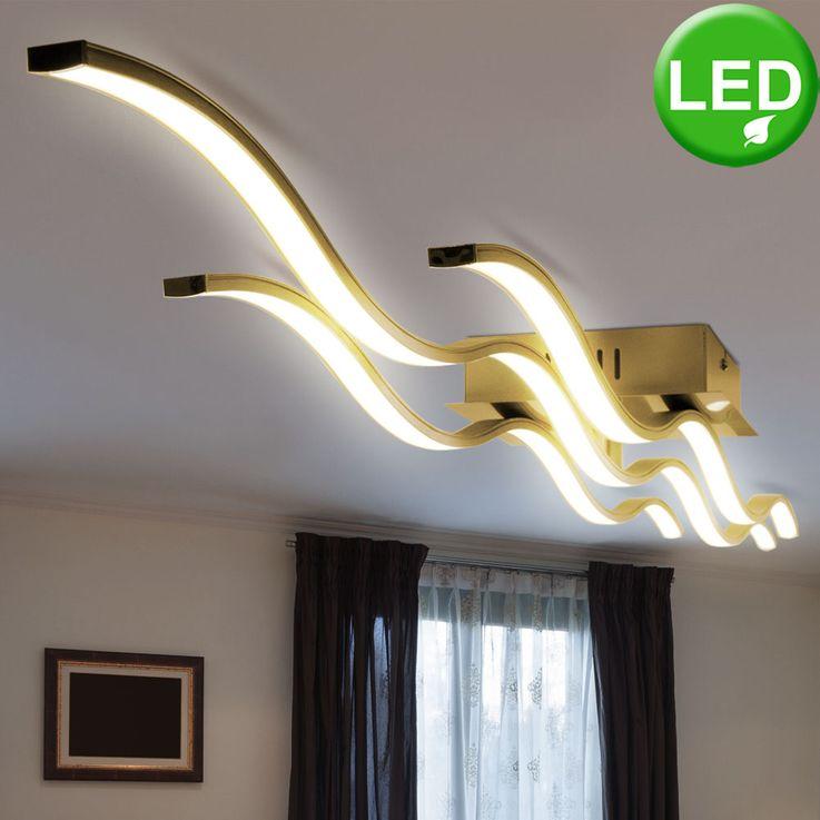 LED Decken Lampe gold Wellen Design Leuchte Wohn Schlaf Zimmer BeleuchtungLeuchtenDirekt 15167-12 – Bild 3