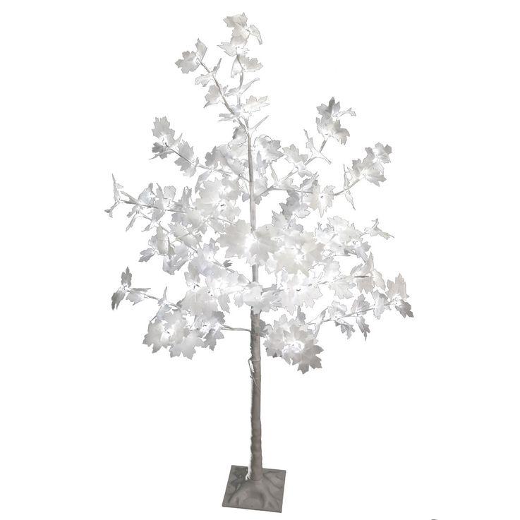 128x LED Baum Ahorn Außen Beleuchtung Garten Stand Steh Hof Lampe Deko Leuchte weiß Harms 207201 – Bild 1