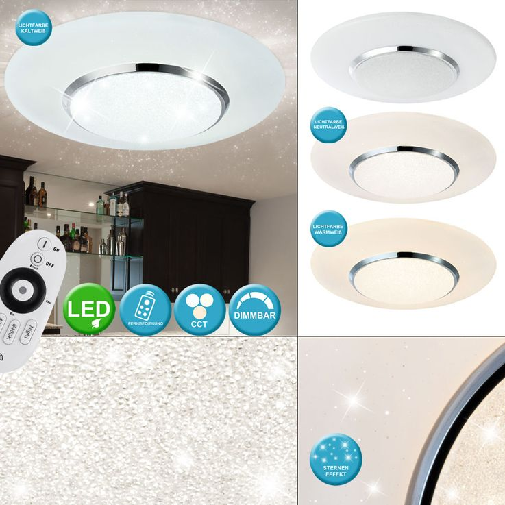 LED ceiling lamp, star effect, remote control, CANDIDA – Bild 2