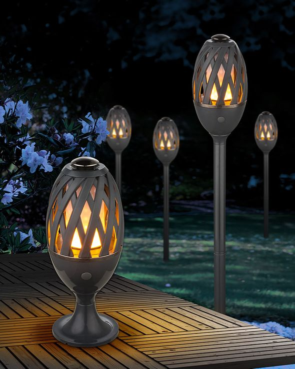 LED table lamp earth spike plug lamp fire effect garden outdoor lighting  Globo 39901 – Bild 4
