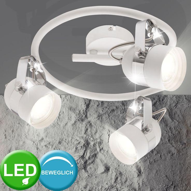 LED Ceiling Spot Rondelle Luminaire Living Dining Room Spotlights Swivel White  Globo 57353-3 – Bild 2