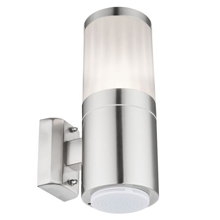 Wand Leuchte Edelstahl Bluetooth Lautsprecher Garten Terrassen Außen Lampe Balkon Globo 32014B – Bild 1