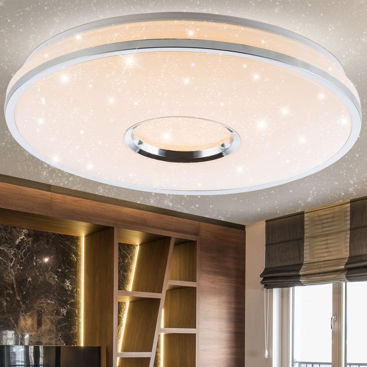 LED Ceiling Lamp Living Room Crystal Stars Effect Light Dimmer REMOTE CONTROL  Globo 48382-60 – Bild 5