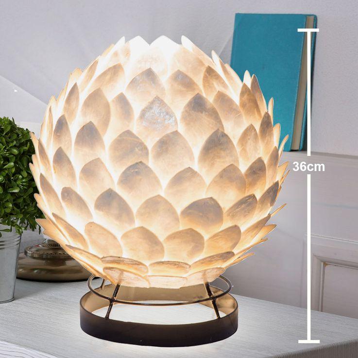 Lampe de table design living éclairage de chambre à coucher lampe de lecture shell  Globo 25854T – Bild 4