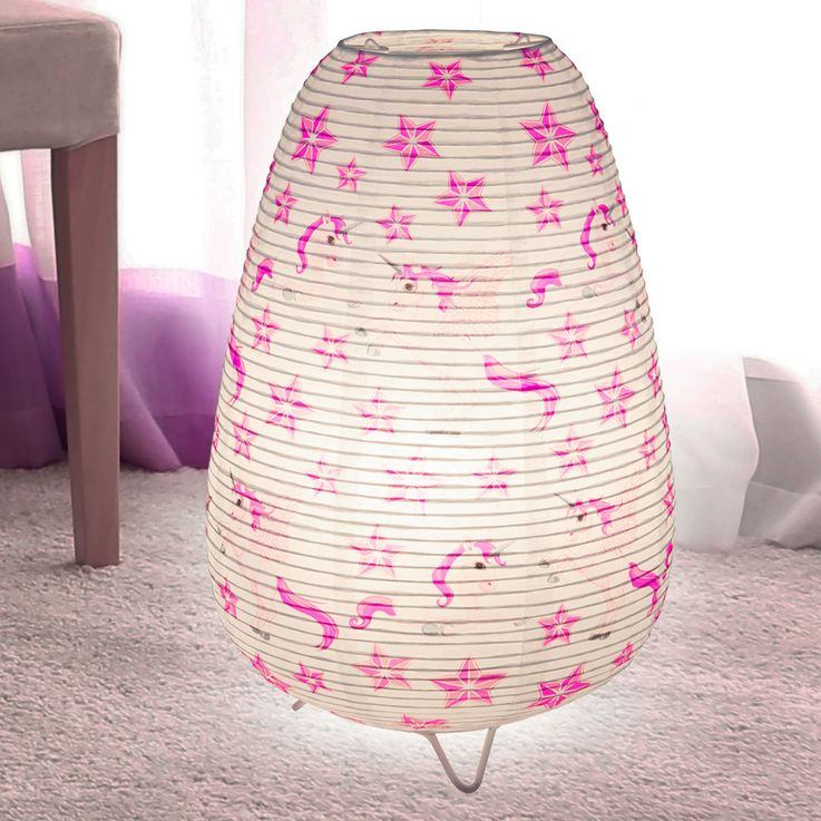Girl Table Lamp Unicorn Design Kids Room Lighting Paper Lamp  Globo 16922T – Bild 3