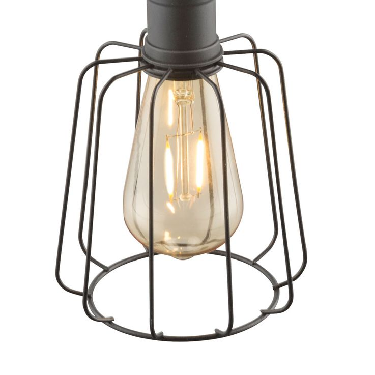 LED Solar Ceiling Hanging Lamp Garden Terraces Vintage Cage Outdoor Pendulum Lamp Glass  Globo 33264 – Bild 7