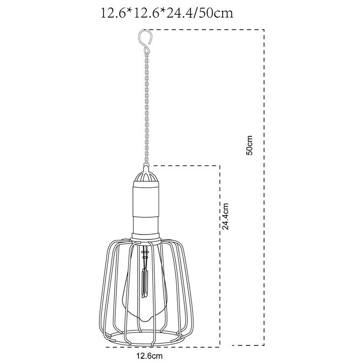 LED Solar Ceiling Hanging Lamp Garden Terraces Vintage Cage Outdoor Pendulum Lamp Glass  Globo 33264 – Bild 8