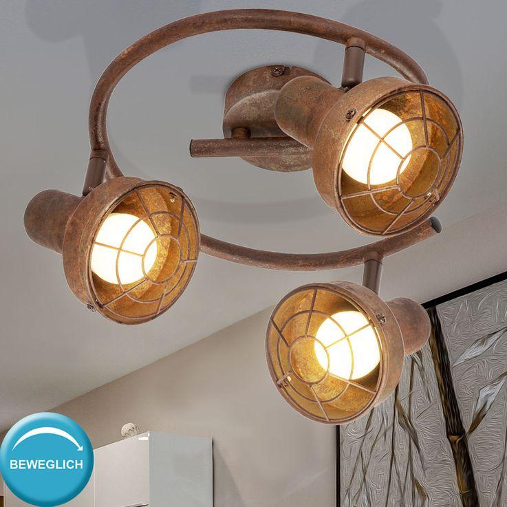 Plafonnier Spot Rondell Sommeil Chambre Lampe Spotlight Rouille Réglable  Globo 54810-3 – Bild 3