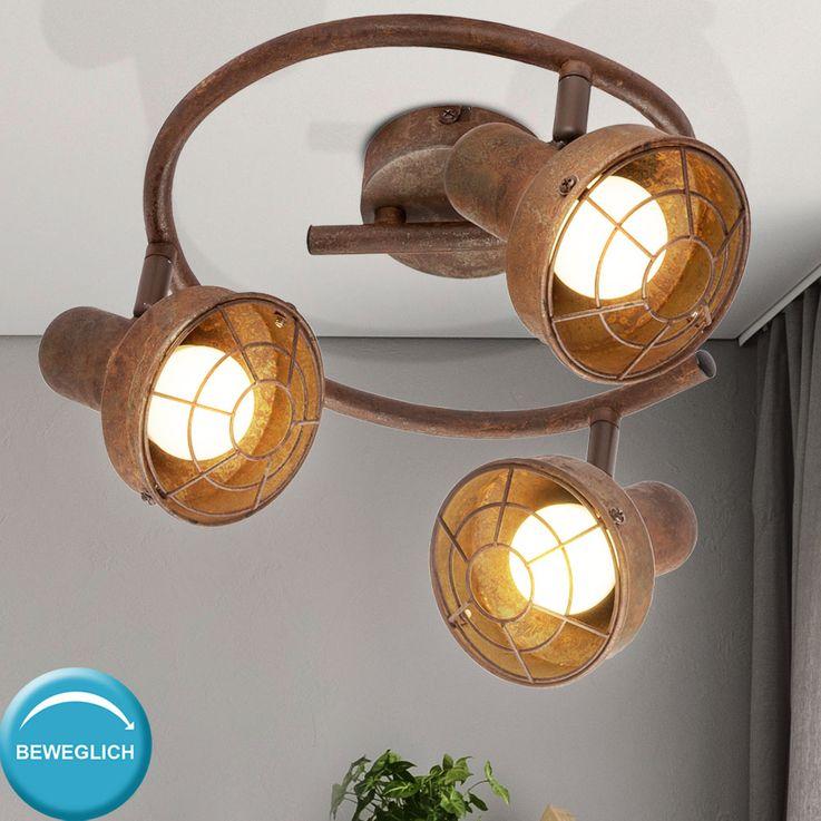 Ceiling Lamp Spot Rondell Sleep Guest Room Spotlight Lamp Rust Adjustable  Globo 54810-3 – Bild 2