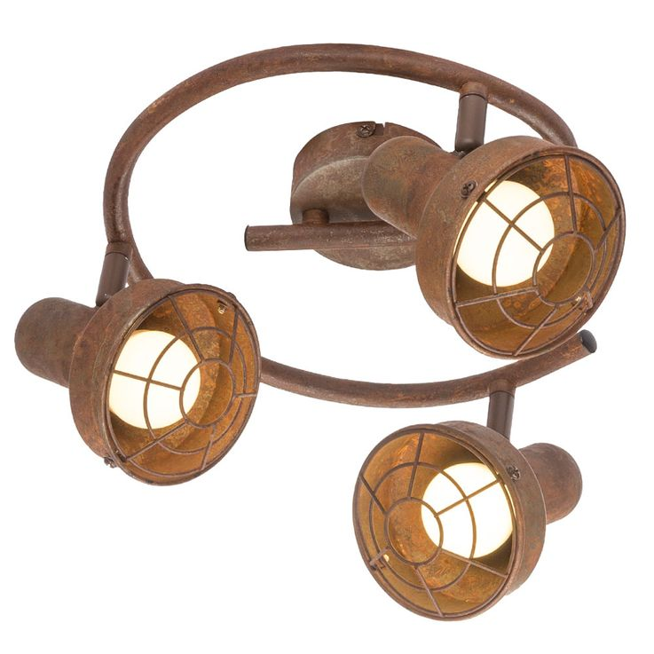 Ceiling Lamp Spot Rondell Sleep Guest Room Spotlight Lamp Rust Adjustable  Globo 54810-3 – Bild 7
