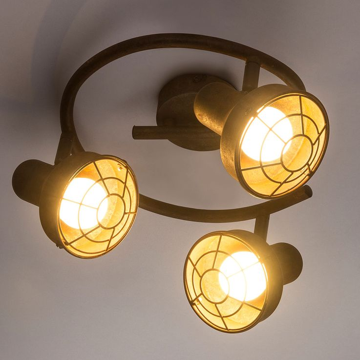 Ceiling Lamp Spot Rondell Sleep Guest Room Spotlight Lamp Rust Adjustable  Globo 54810-3 – Bild 6