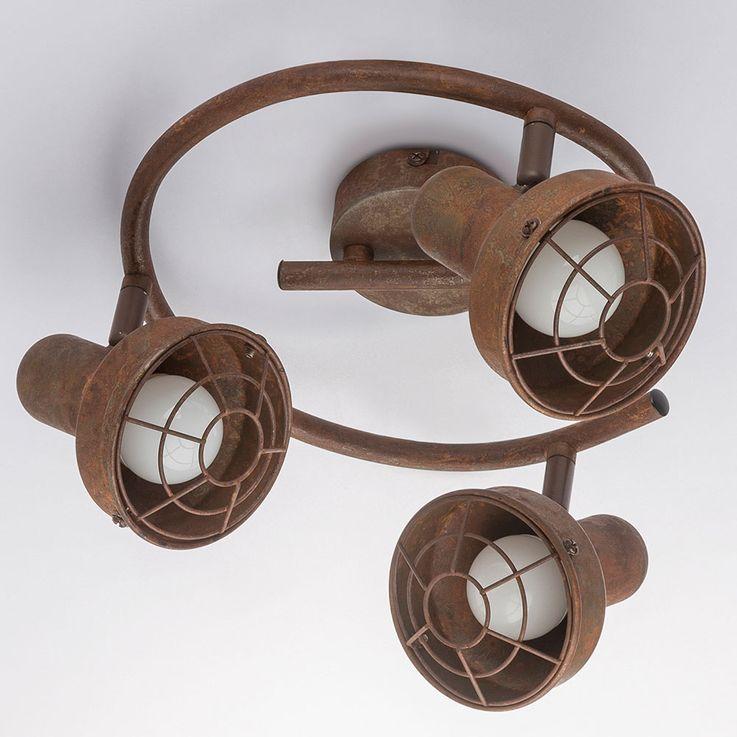 Plafonnier Spot Rondell Sommeil Chambre Lampe Spotlight Rouille Réglable  Globo 54810-3 – Bild 4