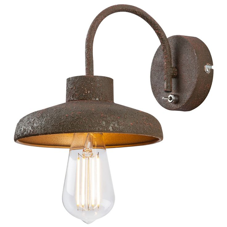 Country style wall lamp living room lighting vintage hallway lamp rust colored  Globo 15305W – Bild 1