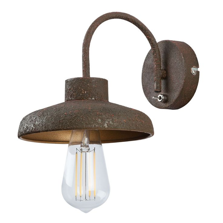 Country style wall lamp living room lighting vintage hallway lamp rust colored  Globo 15305W – Bild 8