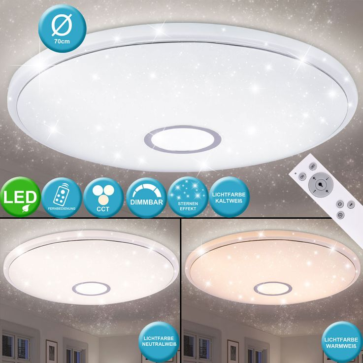 LED Ceiling Lamp Living Room Stars Sky Effect Light Dimmer REMOTE CONTROL  Globo 41386-30 – Bild 2