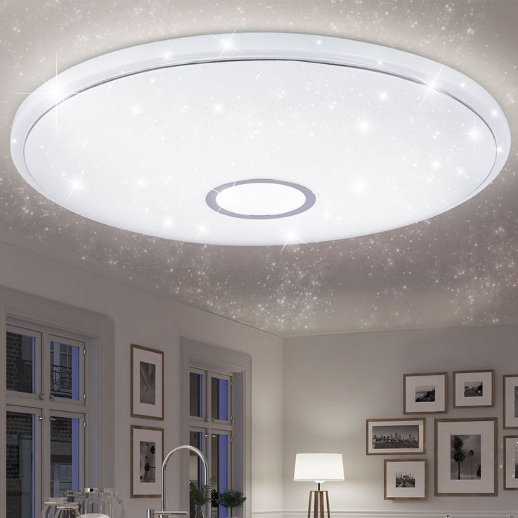 LED Ceiling Lamp Living Room Stars Sky Effect Light Dimmer REMOTE CONTROL  Globo 41386-30 – Bild 4