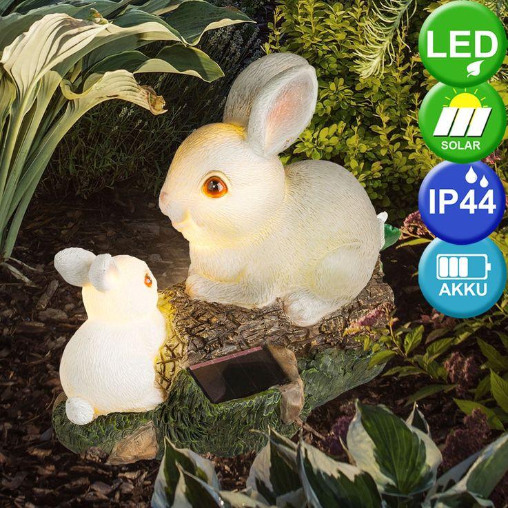 LED outdoor area solar figure lamp hare tree trunk patio battery light  Globo 33736 – Bild 2