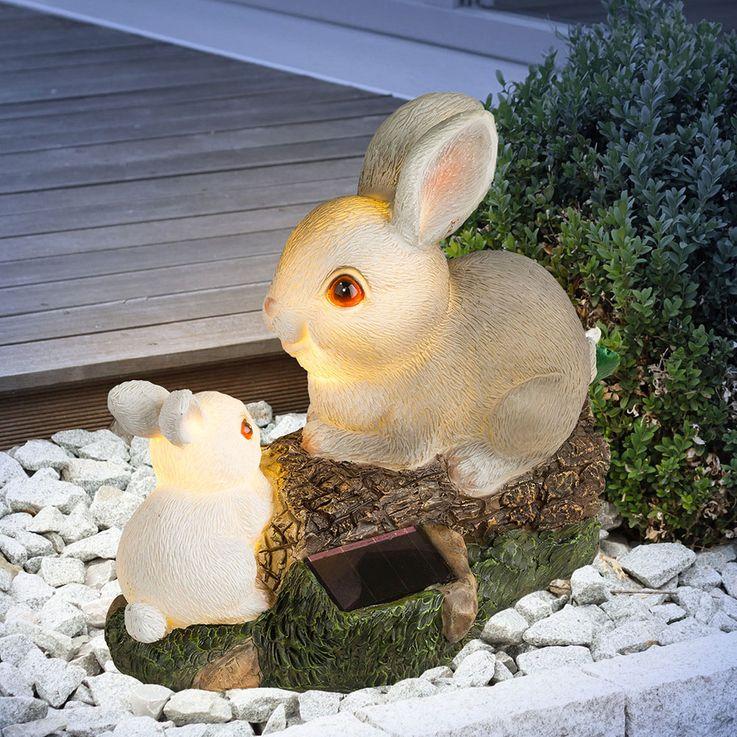 LED figure extérieure lampe solaire figure lièvre tronc arbre patio batterie light  Globo 33736 – Bild 3