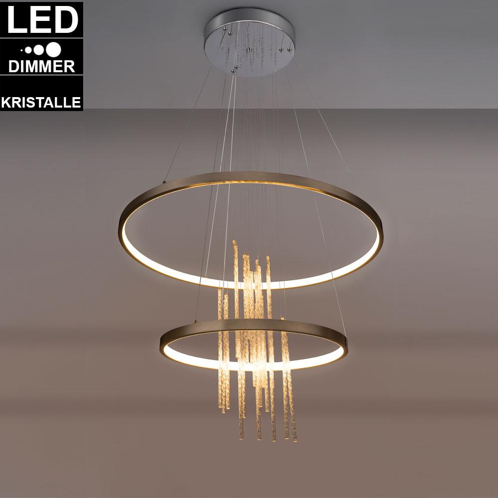 LED Kristall Kugel Leuchte Schreib Nacht Tisch Lampe Chrom Ring Strahler klar