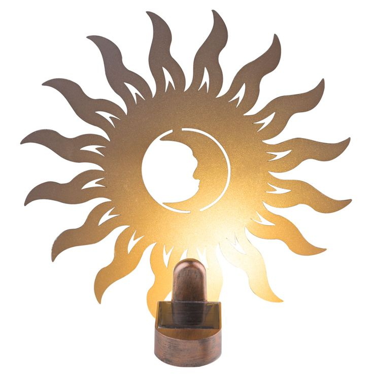 Applique murale solaire LED Sun Design Porch Garden Lighting Figurine Rust  Globo 33906 – Bild 1