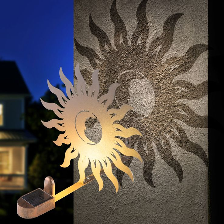 Applique murale solaire LED Sun Design Porch Garden Lighting Figurine Rust  Globo 33906 – Bild 3
