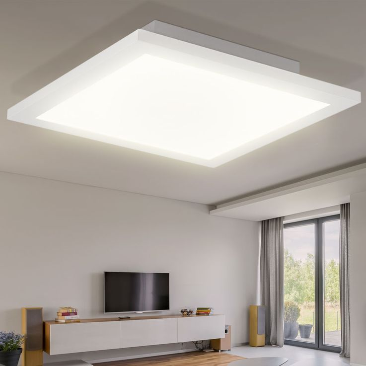 LED A Panel Panel Ceiling Lamp Living Room Remote Control Day Light Lamp Dimmable  Globo 41604D2F – Bild 5