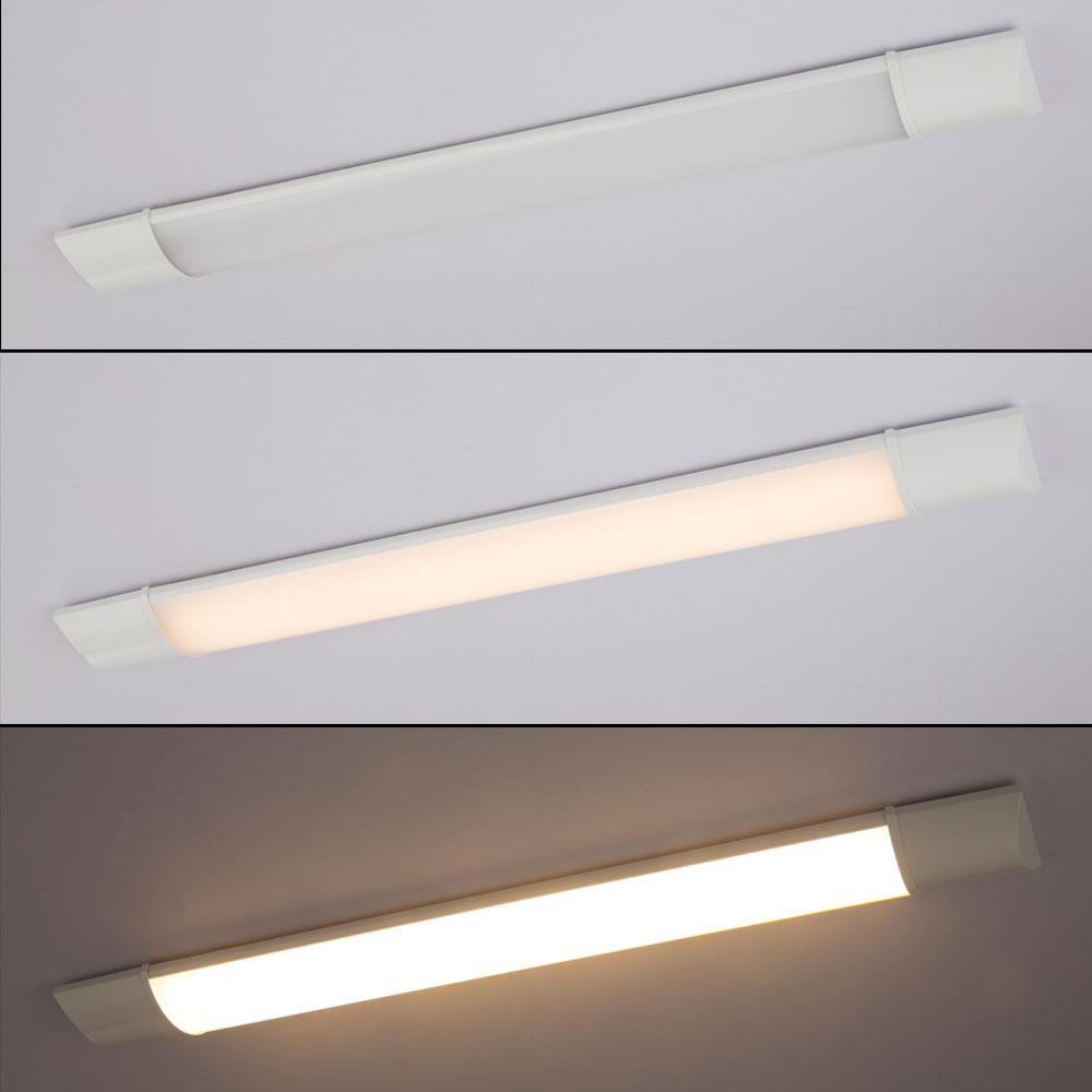 LED Unterbau Lampe Aluminium Leuchte Opal Satiniert Weiß Küche Beleuchtung
