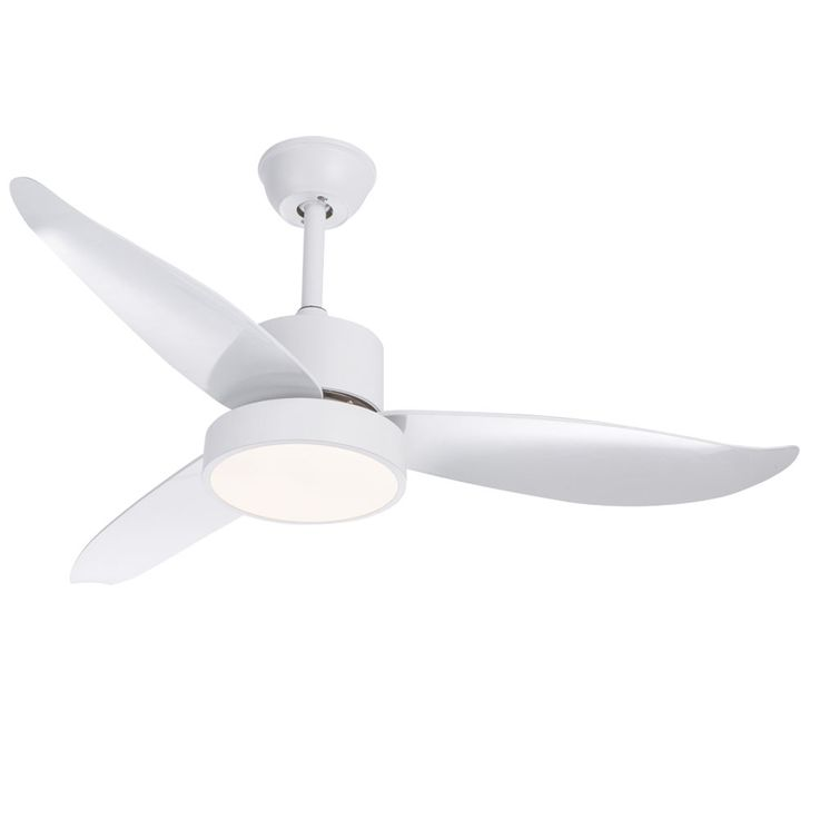 LED ceiling fan living room fan white 3 steps remote control timer lamp dimmable  Globo 03600 – Bild 1