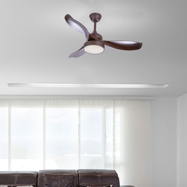 LED ceiling fan brown timer remote control living room fan lamp dimmable  Globo 03610 – Bild 3