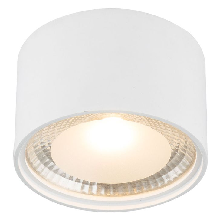 LED ceiling light living room lighting glass white spotlight lamp clear satin  Globo 12007W – Bild 1
