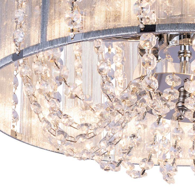 Kristall Deckenleuchte, Chrom, silber metallic, D 40 cm – Bild 4