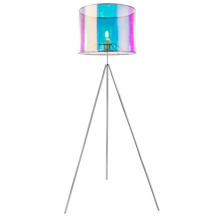 Design Textile Stand Lamp Living Room Lighting Ceiling Floodlight Tripod Lamp Multicolored  Globo 15260S – Bild 1