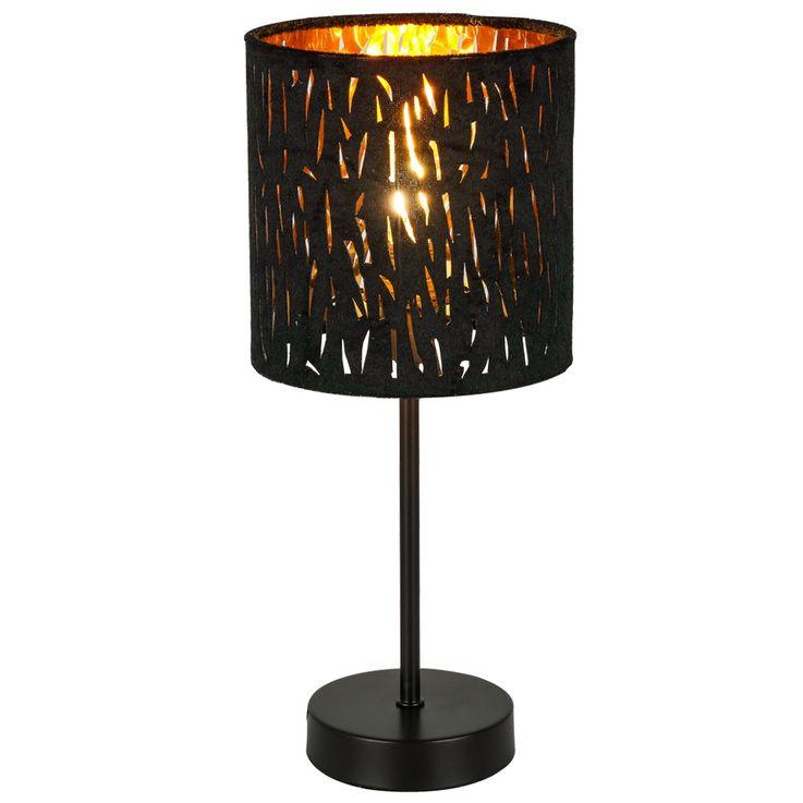 Lampe de table salon éclairage or noir velours lampe de lecture veilleuse  Globo 15264T – Bild 1