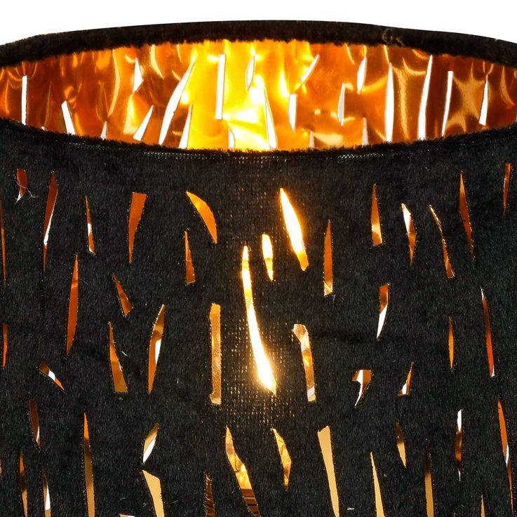 Lampe de table salon éclairage or noir velours lampe de lecture veilleuse  Globo 15264T – Bild 4