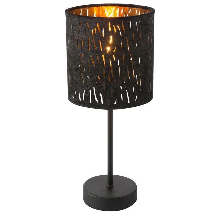 Lampe de table salon éclairage or noir velours lampe de lecture veilleuse  Globo 15264T – Bild 6