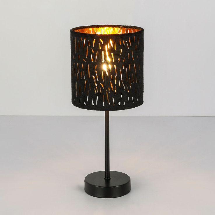 Lampe de table salon éclairage or noir velours lampe de lecture veilleuse  Globo 15264T – Bild 8