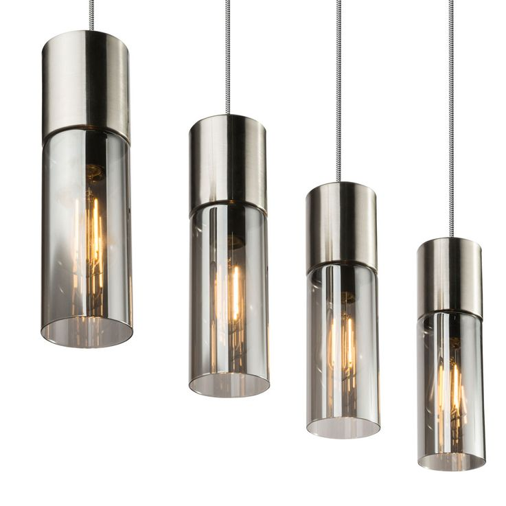 Ceiling pendant lamp glass cylinder spotlight smoke living dining room hanging lamp  Globo 21000-4HN – Bild 8