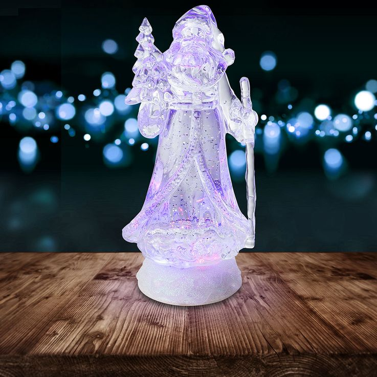Lampe décorative à LED RGB Père Noël Figurine changeante de couleur X-MAS - Support de table à paillettes  Globo 23208 – Bild 3