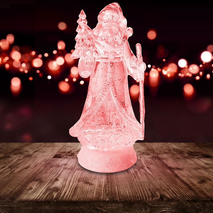 Lampe décorative à LED RGB Père Noël Figurine changeante de couleur X-MAS - Support de table à paillettes  Globo 23208 – Bild 5