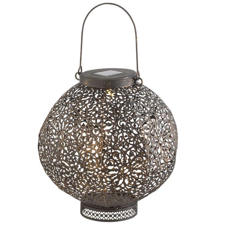 Plafonnier suspendu solaire à LED Oriental Garden extérieur Sphère Stand Lantern Noir Rouille  Globo 33004 – Bild 1