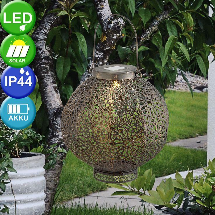 Plafonnier suspendu solaire à LED Oriental Garden extérieur Sphère Stand Lantern Noir Rouille  Globo 33004 – Bild 2