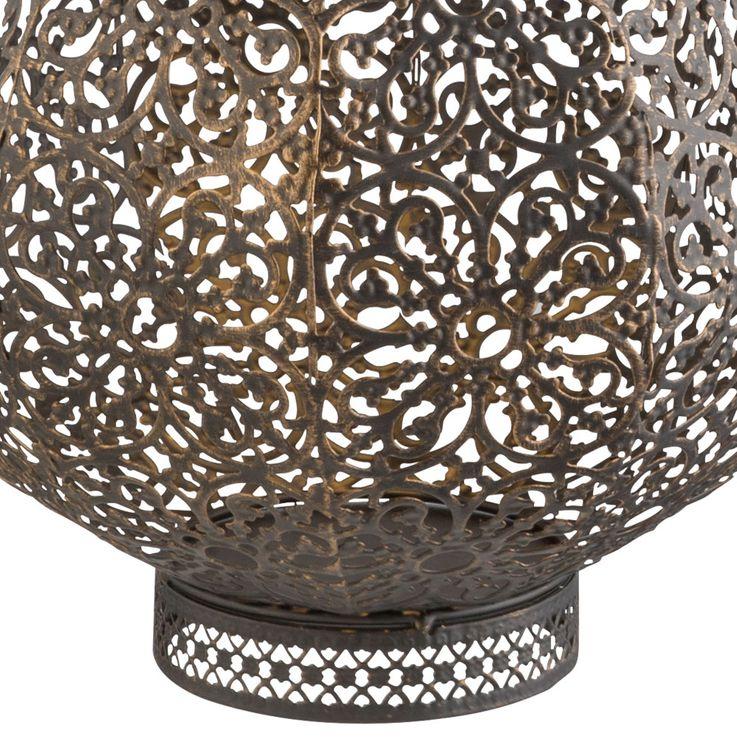 LED Solar Hanging Ceiling Lamp Oriental Garden Outdoor Sphere Stand Lantern Black Rust  Globo 33004 – Bild 7