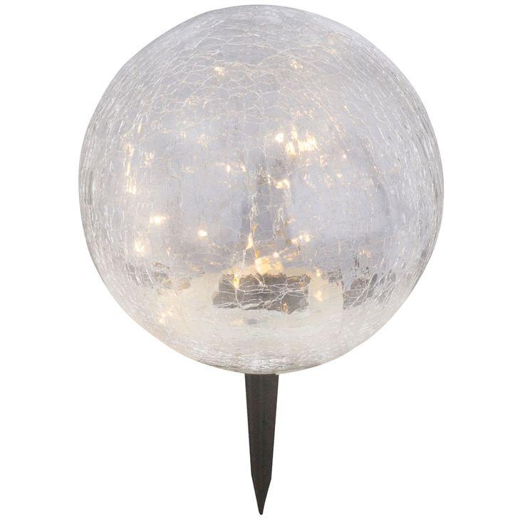 LED solar lamp outdoor plug earth spit lamp garden glass ball spotlight white  Globo 33303 – Bild 1