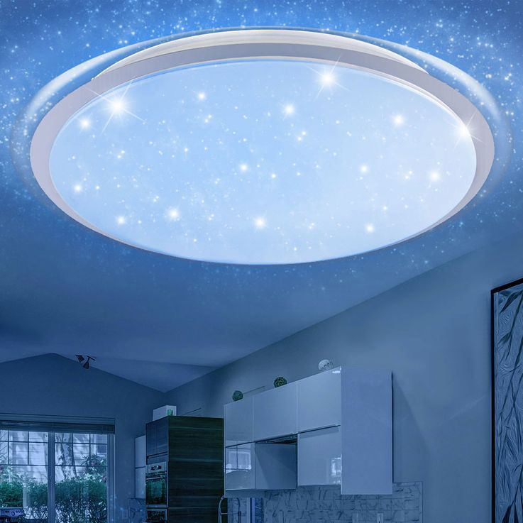 RGB LED Ceiling Light Stars Effect Daylight Dimmer Light Timer REMOTE CONTROL  Globo 41310-80RGB – Bild 10