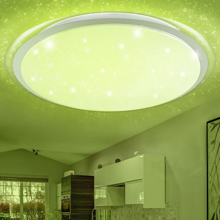 RGB LED Ceiling Light Stars Effect Daylight Dimmer Light Timer REMOTE CONTROL  Globo 41310-80RGB – Bild 5