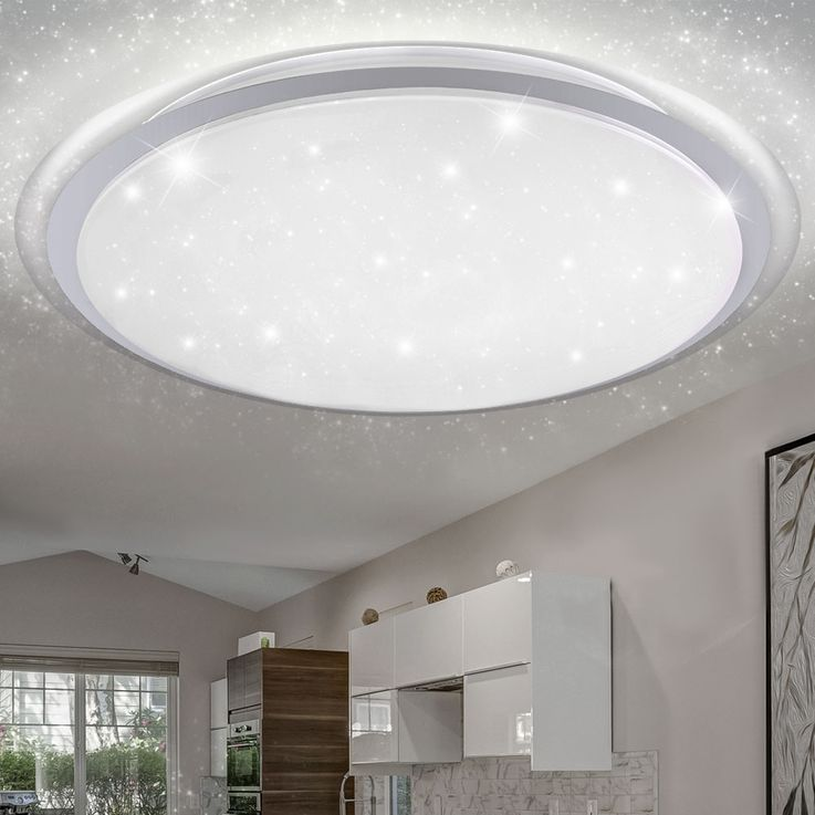 RGB LED Ceiling Light Stars Effect Daylight Dimmer Light Timer REMOTE CONTROL  Globo 41310-80RGB – Bild 6